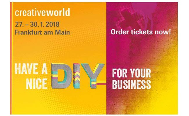 Creativeworld 27-30 January 2018 Frankfurt